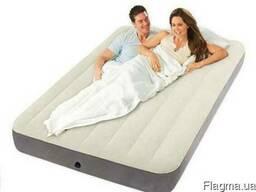 Надувной флокированный матрас Intex 64709
