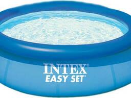 Надувной семейный бассейн круглый Intex Easy Set Pool...