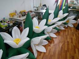 Надувные цветы с подсветкой