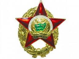 Нагрудный знак Ветеран Афганской войны на Красной пятиконечной звезде