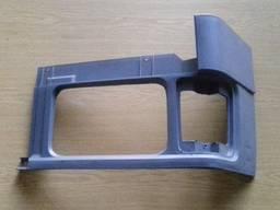 Накладка передняя фар пластиковая правая серая Тата, Эталон.