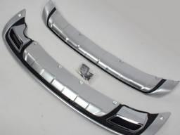 Накладки на бампера Хром для Kia Sportage 2010-2015 гг.