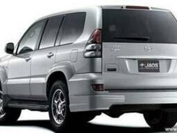 Накладки на задний бампер JAOS Toyota Prado 120