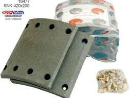 Накладки тормозные SAF (компл на ось) 420х200 стандарт 19477