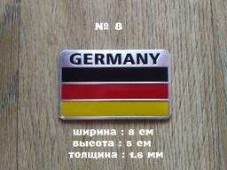 Наклейка Флаг Германии на авто алюминиевая