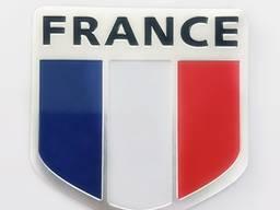 Наклейка на авто Флаг Франция номер 2