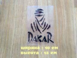 Наклейка на авто мото Дакар Чёрная