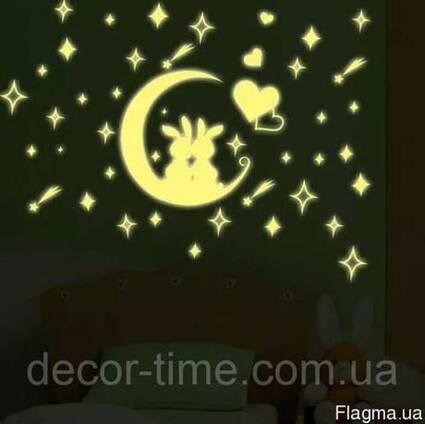 Наклейки светящиеся в темноте 057
