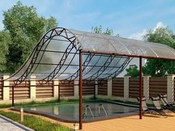Накрытие на бассейн, крыша над бассейном, навес