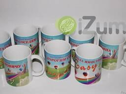 Нанесение логотипа на чашки большими тиражами