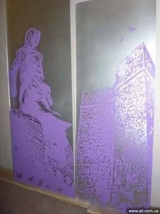 Нанесение рисунков на стекло и зеркало