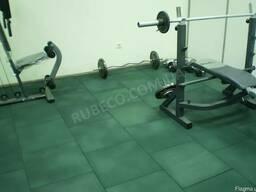 Плитка для спортзала. Резиновая плитка. Плиты 500х500 мм