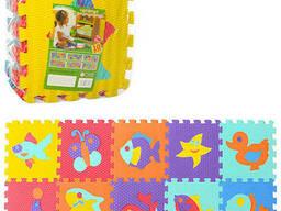 Напольный коврик-мозаика EVA, 10 деталей (M3519)