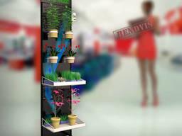Напольные торговые металлические стойки для цветов