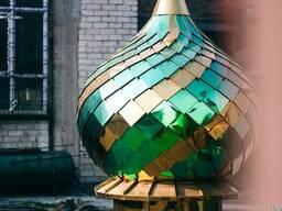 Напыление нитрид титана на купола и декоративные елементы