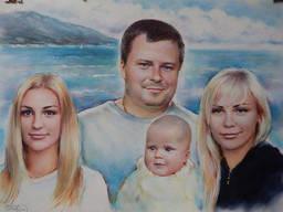 Нарисовать портрет с фотографии Киев Украина - фото 7