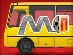 Наружная реклама на кольцевых автобусах Полтава