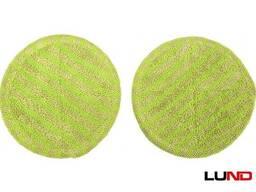 Насадки мікроволоконні круглі LUND : Ø15 см x 5 мм, до акумуляторної швабри 67180, 2 шт