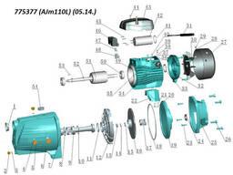 Насос центробежный самовсасывающий 1.1кВт Hmax 47м Qmax 140л/мин LEO 3.0 (775377)