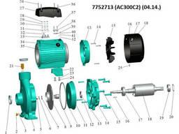 """Насос центробежный 380В 3.0кВт Hmax 30м Qmax 800л/мин 2"""" LEO 3.0 (7752713)"""