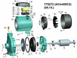 """Насос центробежный 4.0кВт Hmax 39м Qmax 900л/мин 2"""" LEO 3.0 (775272)"""