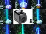 Насос для фонтана 15Вт цветной с подсветкой светодиодной led - фото 2
