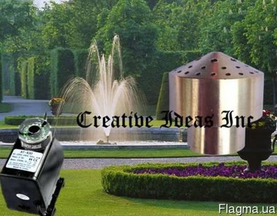 Насос для фонтана с подсветкой и насадкой Фейерверк 4 яруса