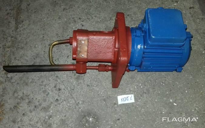 Насос пластинчатый для смазки С12-51, с плитой и мотором