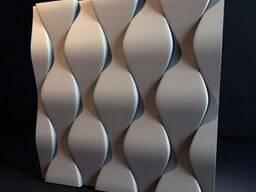 """Настенные 3Д панели"""" чешуя"""" из гипса"""
