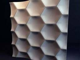 """Настенные 3Д панели"""" медок"""" из гипса"""