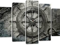 Настенные часы-картина на холсте Декор Карпаты 80x120 см (chf52)