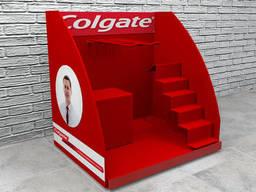 Настольные рекламные стойки Colgate  торговая подставка. ..