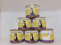 Натуральный сбалансированный мясной корм, влажный корм для собак