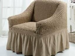 Натяжной чехол на кресло - фото 1
