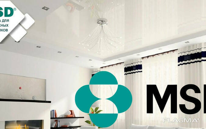 Натяжные ПВХ потолки MSD материалы+работа+пластиковые. ..