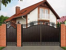 Распашные #ворота, решетки на окна, #автонавесы, #калитки, заборы, двери.