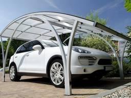 Навес из поликарбоната автомобильный производство