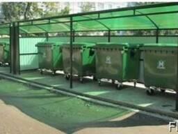 Навес из поликарбоната под мусорные контейнеры