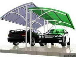 Навесы для автомобилей под сотовый поликарбонат