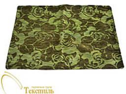 Наволочка декоративна квадрат, зелені декоративні квіти