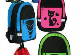 Недорогой комплект для школы - рюкзак Трансформер, Кошка. ..