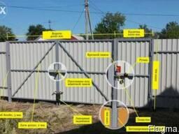 Недорогой забор из профнастила. Металлический забор