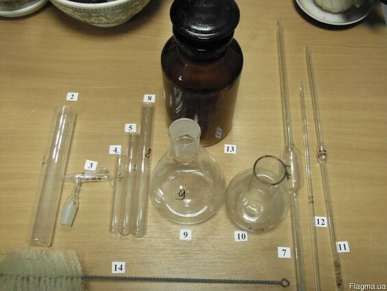 Неликвиды лабораторного оборудования (пробирки, колбы, пипет