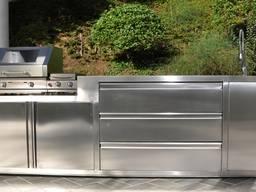 Нержавеющая мебель для летней кухни и зоны барбекю