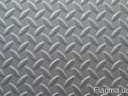 Лист рифленый стальной, 1250х6000х4 мм