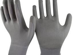 Нейлоновые перчатки с неполным полиуретановым покрытием
