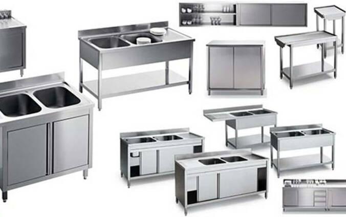 Мебель для кухни из нержавейки
