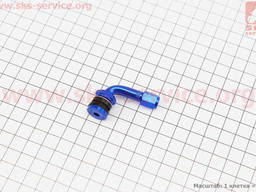 Ниппель дисковый многоразовый кривой, Синий