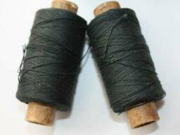 Нитки х/б для шитья в бобинах черные