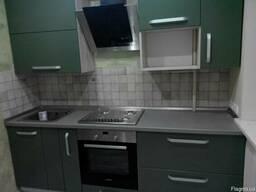 Новая кухня.Крашеный МДФ-цвет на выбор.Крутая фурнитура.